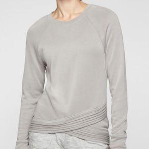 Athleta Serenity Criss Cross sweatshirt sz M gray